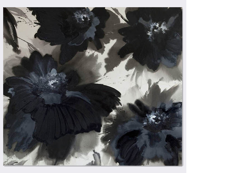 Greyswanlake  (2013)   (160cm x 183cm)   Acrylic / ink / polymer varnish on canvas.