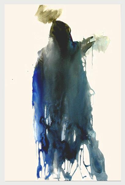 Visited II (2007)   (154cm x 122cm)  Acrylic / gloss on canvas.