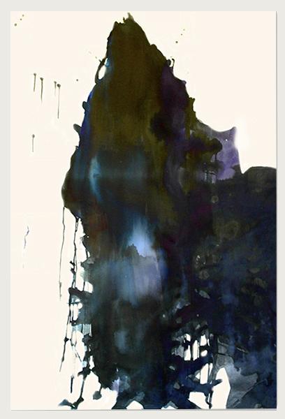 Visited III (2007)   (154cm x 122cm)   Acrylic / gloss on canvas.