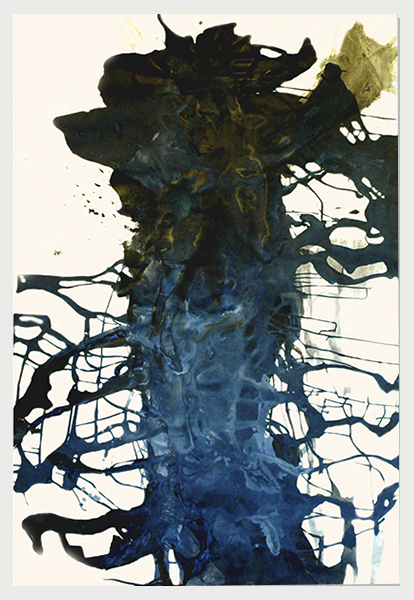 Visited IV (2007)   (154cm x 122cm)   Acrylic / gloss on canvas.
