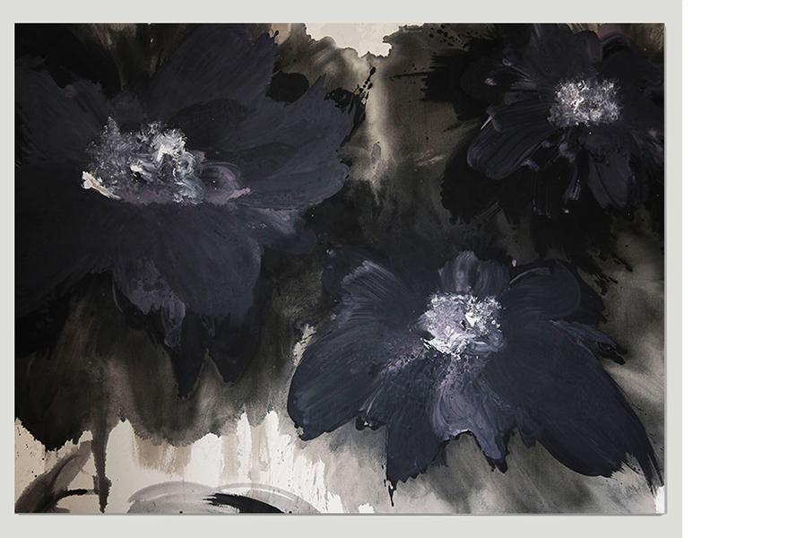Glycerasgrief (2014) (150cm x 200cm) Acrylic / ink on canvas.