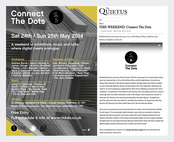 Connect - The Quietus May 2014  (see link in panel below radio files).